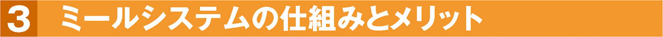 3.生協食堂定期券 ミールシステム